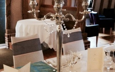 hire candelabra centrepieces