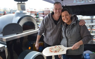 Chris & Emily Owners of Azure Wood Fired Pizza