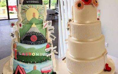 Glastonbury half and half cake