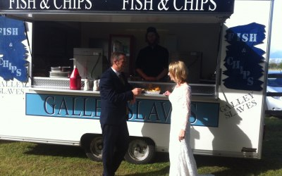Fish and chip mobile van available for wedding catering, parties corporate catering and shows