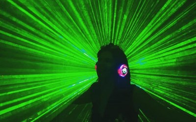 For DRY HIRE Silent Disco packages we also can supply Disco lights, Laser and Smoke package from as little as £45 this month, this picture was sent from a happy customer who added this option to her order