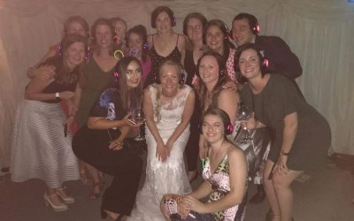 More of the happy Silent Disco wedding reception