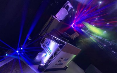 Silent Discomania full party package with DJ set up from wedding
