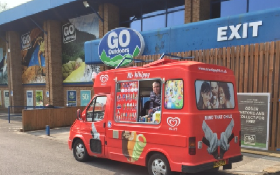 Treats UK - Mr Whippy attending Go Outdoors fun weekend
