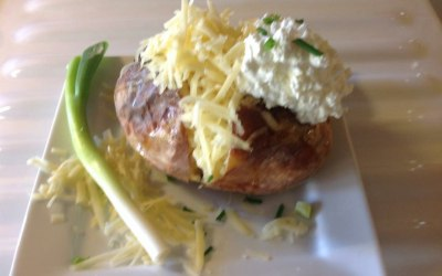 One of our baked potatoes from our Victorian baked potato trailer