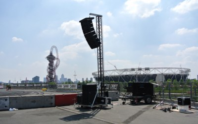 International Quarter Olympic Park Outdoor Sound Production