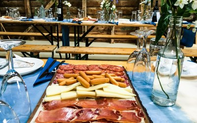 Cured meats and manchego