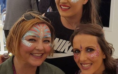 Festival Glitter. Face Painting. Impeccable Parties. Coventry. Warwickshire