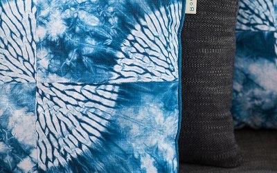 Romor Designs Karamatsu Shibori cushions