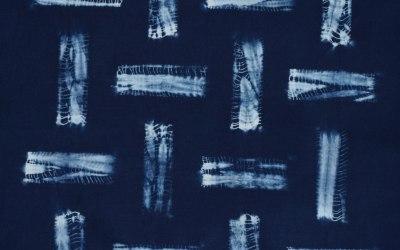 Romor Designs Guntai Shibori bamboo grid