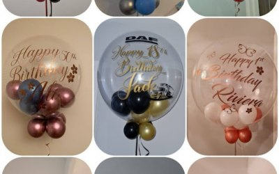 we offer an arrangement of balloons to match any theme or party