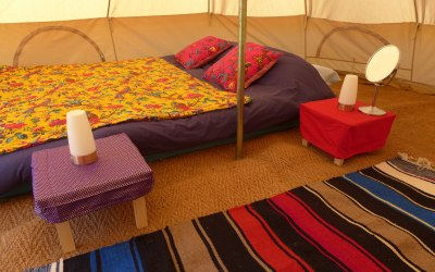 Our Bell tents are super comfortable and can come with proper mattresses