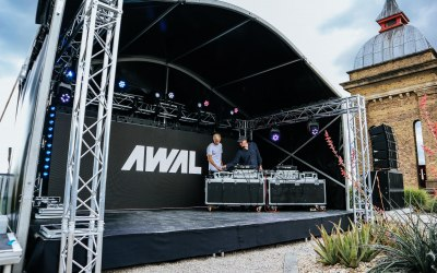 Award winning full production stage for AWAL in Central London.