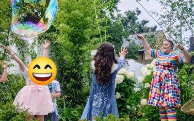 Huge bubbles in your garden