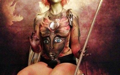 Body Painting - Glastonbury Body Art Event