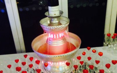 Champagne and Stawberries fountain which offers a touch of elegance to your event