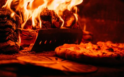 We can make a pizza as quickly as every 30 seconds in our wood fired oven!