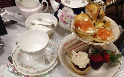 Vintage style afternoon tea