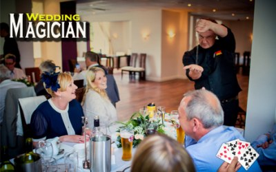 Close up Magician for weddings and private events