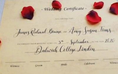 Hand written certificates