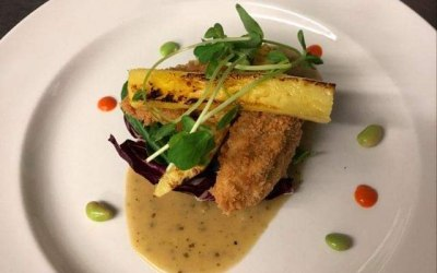 Monkfish & chargrilled pineapple
