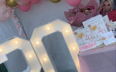 4ft led light up numbers