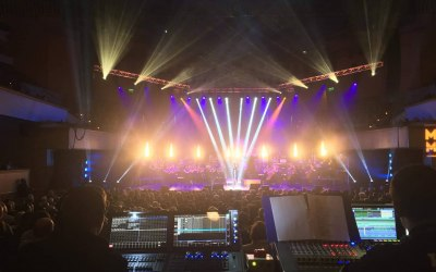 100 moving lights and 150 mics