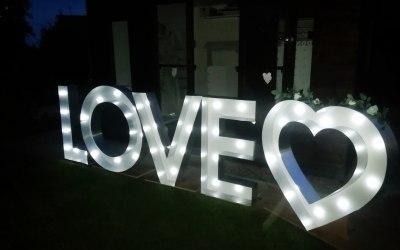 Light up LOVE letters