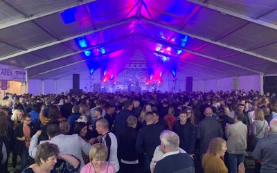 Large scale stage, sound and lighting for Shropshire Oktoberfest 2019
