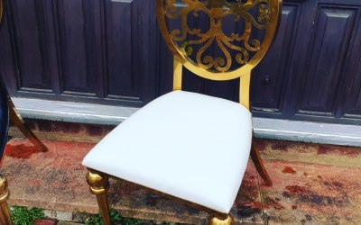 Gold luxe chairs