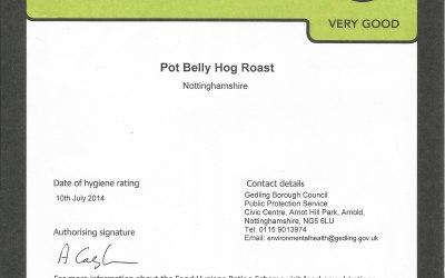 Pot Belly Hog Roast Food Hygiene Rating.
