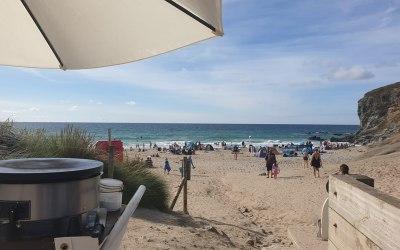 Porthtowan beach - crepe service was a family favourite