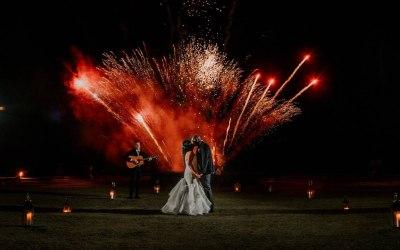 Stunning First Dance Fireworks