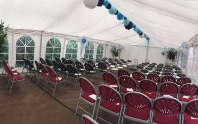6x12 Meter Marquee Hire with Roof Lining & Carpet