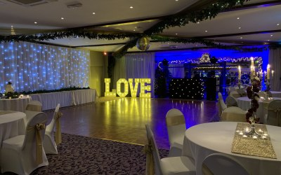 Wickwoods Country Club with White LOVE letters
