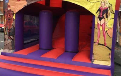 Superheroes Bounce n Slide Combo