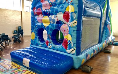 Balloons Assault Course with Bish Bash and Slide