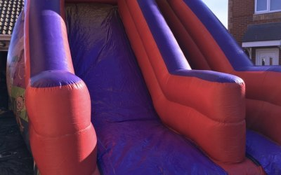 Circus Themed Mega Slide with 10ft Platform Slide
