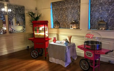 Popcorn cart and candy floss cart