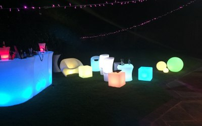 LED furniture and bar hire