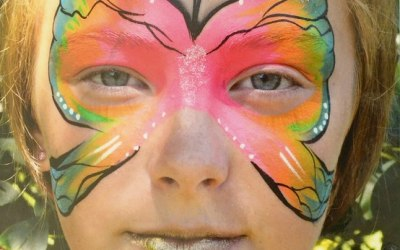 Fairy Tale Face Painting by Janet Hill