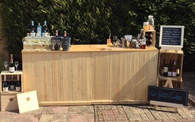 Wooden Mobile Bar