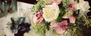 BHGS Floral Design vintage wedding display