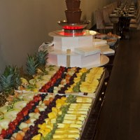 Small 5 Tier Chocolate Fountain with 4ft Fruit Platter