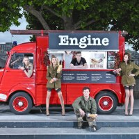 engine hotdogs hot dog food truck van street food catering