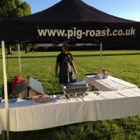 Small hog roast marquee
