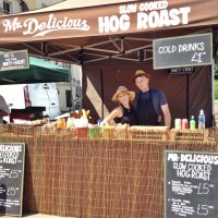 Mr Delicious Hog Roast Set Up