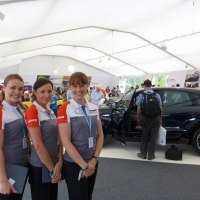 Event hostesses at Goodwood Festival of speed for Porsche