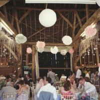 A private barn used for a wedding reception