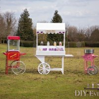 candy cart popcorn candy floss